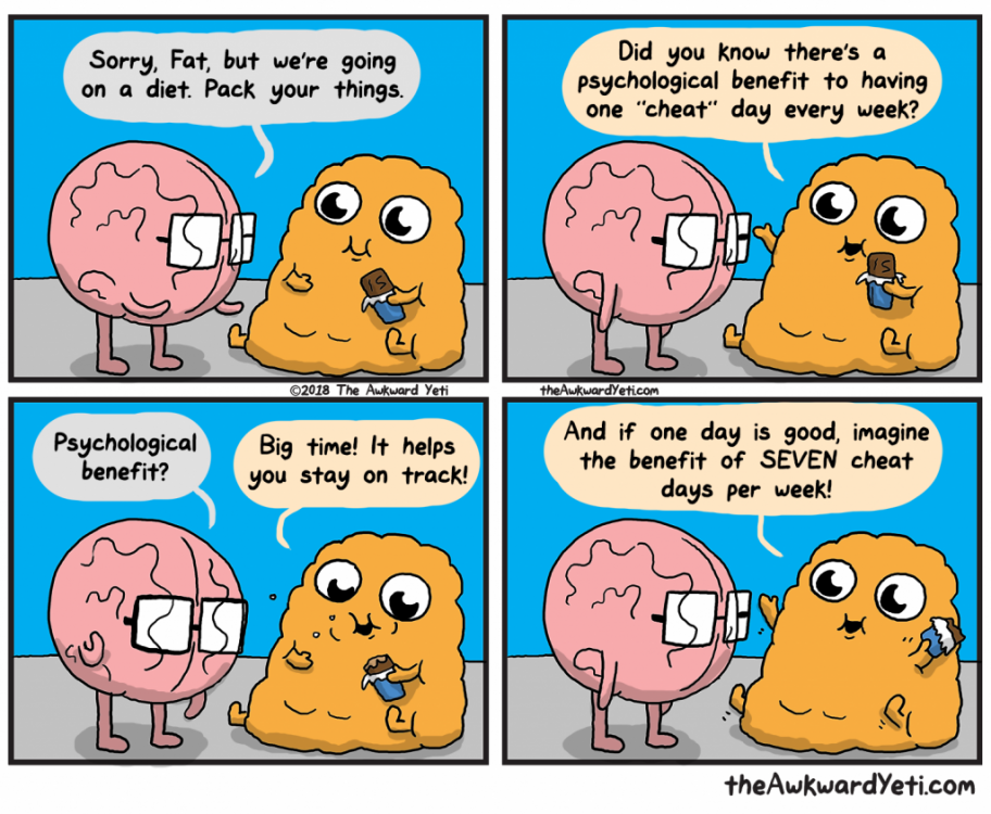 Image result for on a diet brain funny