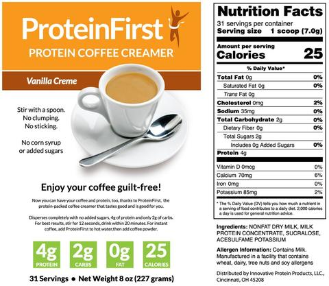 ProteinFirst Protein Coffee Creamer