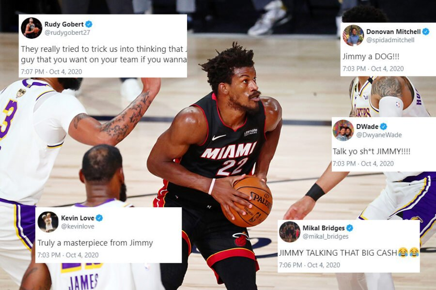 NBA players erupt after Jimmy Butler's masterful Game 3 performance - Heat  Nation