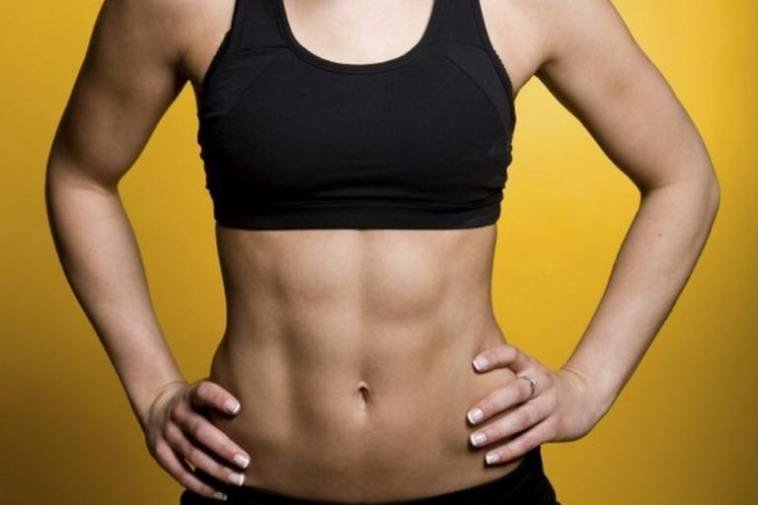 Image result for women's six pack abs